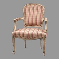 Louis XV Painted Fauteuil or Armchair