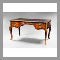 Early 20th C. Louis XV Bronze Mounted Bureau Plat or Desk