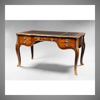 Early 20th C. Louis XV Bronze Mounted Bureau Plat or Desk