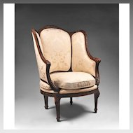 19th C. French Louis XVI Bergére Armchair