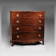 Bow Front American Hepplewhite Chest, 1800-10