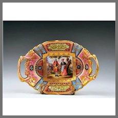 Royal Vienna Bowl With Pierced Handles