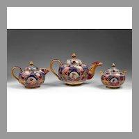 Alfredo Santarelli Gualdo Tadino Lustre Majolica Tea Set
