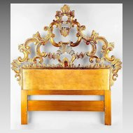 Florentine Hand Carved Italian Single Headboard