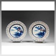 19th C. Japanese Kakiemon Style Reticulated Imari Plates