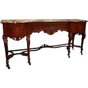 Charles II Style Walnut Marquetry Sideboard