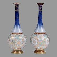 Pair of Art Nouveau Doulton Slater Stoneware Vases