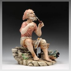 Italian Porcelain Figure of Fisherman