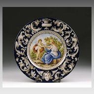 Italian Faenza Hand Painted Maiolica Charger