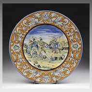 Italian Faenza Maiolica Hand Painted Charger