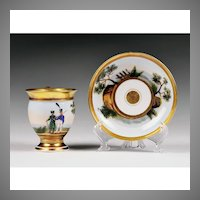 First Empire Vieux Paris Porcelain Cup & Saucer