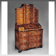 18th C. Baroque Tabernacle Secretary Bureau Commode