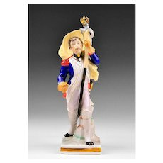 Voight Brothers Sitzendorf Porcelain Figurine of Prussian Soldier