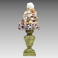 Vintage Tramp Art Shell Topiary