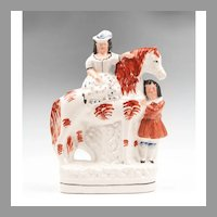 Staffordshire Figure Of Royal Children On Horse, 1860