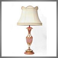 19th C. Bohemian Hand Cut Overlay Ruby Glass Lamp