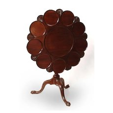 Late 19th C. George III Style Tilt-Top Supper Table