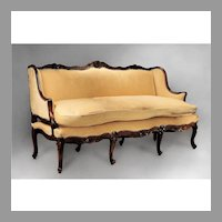 18th C. French Provincial Régence Canape or Sofa