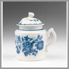 18th C. Caughley Pot de Crème or Custard Pot With Cover