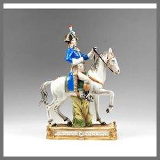 Italian Porcelain Figurine Of Mounted Napoleonic General