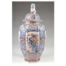18th C. Jan Gaal Petit feu Painted Delft Vase in the Chinese Style