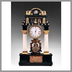1820 Austrian Portico Mantel Clock