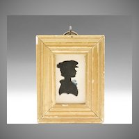 Rare Moses Chapman Hollow Cut Silhouette of Young Boy, 1810