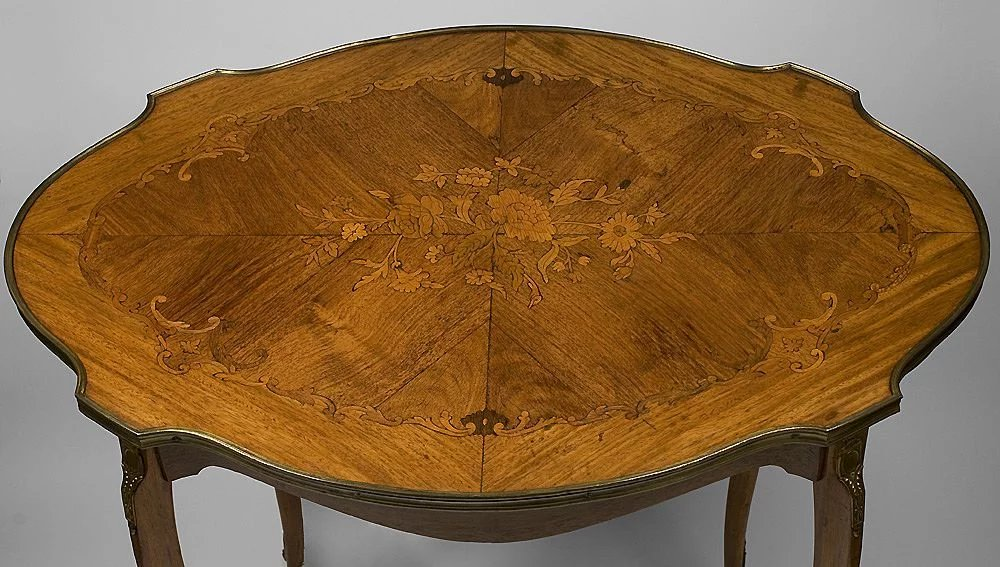 Louis Xv Style Satinwood Inlaid Center Table Pia S