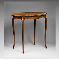 Louis XV Style Satinwood Inlaid Center Table