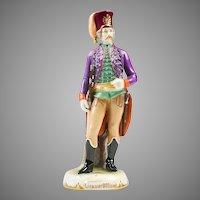 Ernst Wahliss Bohemian Porcelain Figurine of A Licauer Offizier