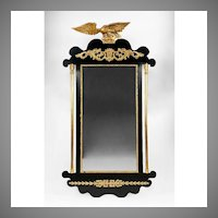 19th C. French Empire Parcel Gilt Mirror