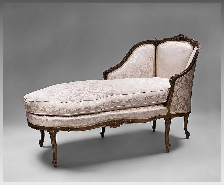 sumptuous french chic shabby plush lounge chaise louis