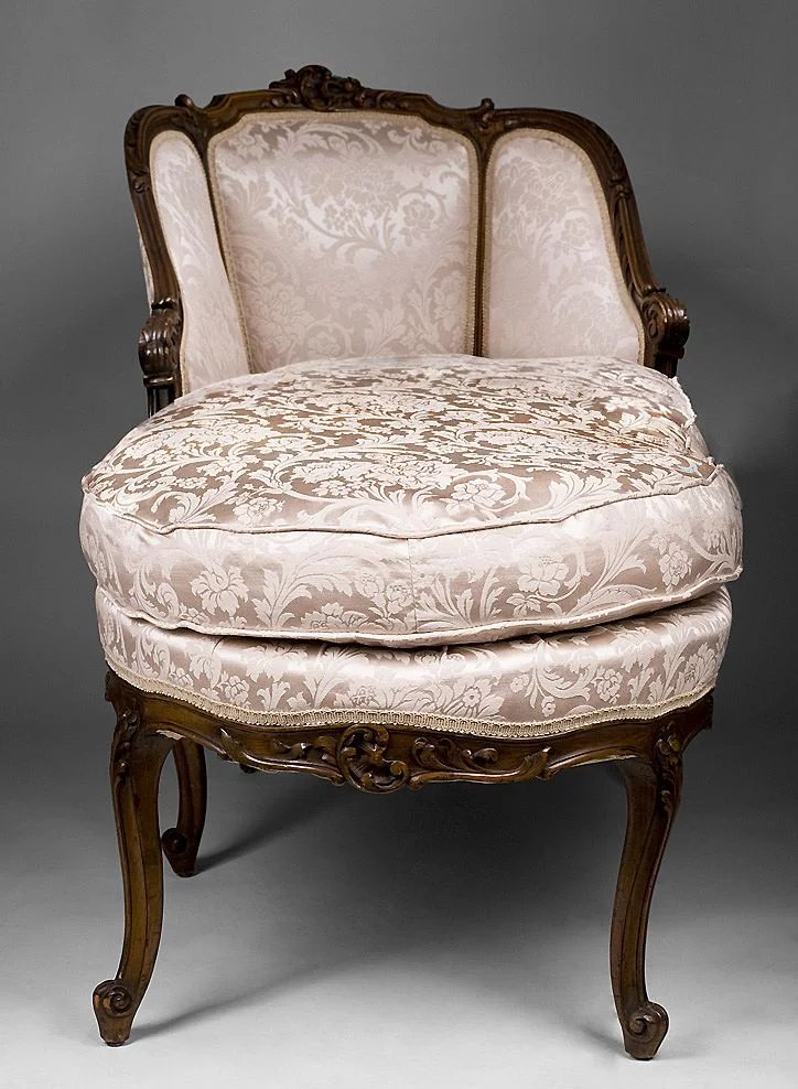 louis xv 19th c french chaise lounge or chaise longue pia 39 s antique gallery ruby lane. Black Bedroom Furniture Sets. Home Design Ideas