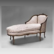 Louis XV 19th C. French Chaise Lounge or Chaise Longue