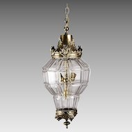 Panel Cut French Crystal And Bronze Mounted Hall Lantern
