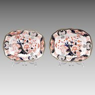 Pr. Of Royal Crown Derby Kings Pattern Platters