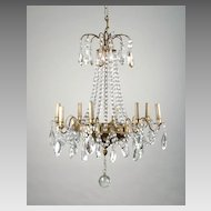 8 Light Tiered French Crystal Chandelier, Maison Jansen