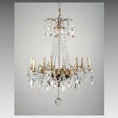 8 Light Tiered French Crystal Chandelier, Maison Jansen