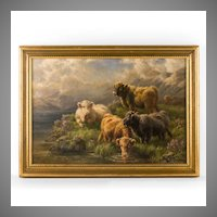 Cari E. Watson O/C of Highland Cattle, 1924