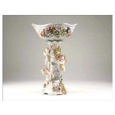 Carl Thieme Dresden Figural Porcelain Compote