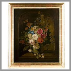 19th C. Lilly Martin Spencer O/C Still Life With Flowers