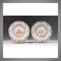 Pair of Meissen Rococo Cabinet Plates