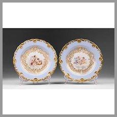 Pair of Meissen Rococo Cabinet Plates
