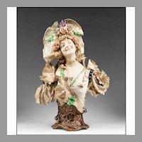 Ernst Wahliss Turn Wien Amphora 1900 Bust