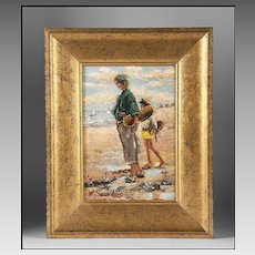 Contemporary Impressionist Oil on Board by W. A. Saunders.