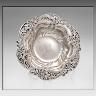 Meriden Sterling Silver Repousse Bowl