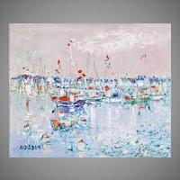Yolande Ardissone Oil On Canvas, Bateau a la Trinite