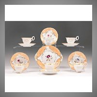 19th Century English China Hand Painted Dessert Set