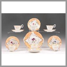 19th Century English China Hand Painted Dessert Set