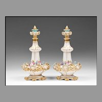 Pair of Jacob Petit French Stoppered Perfume Bottles or Flacons